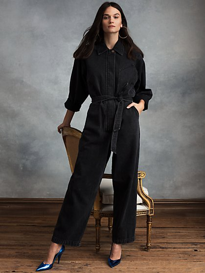 Ace Jumpsuit in Overnight Wash Denim - New York & Company