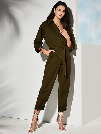 Ace Twill Jumpsuit - New York & Company