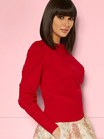 Adelaide Heart Sweater - Eva Mendes Collection - New York & Company