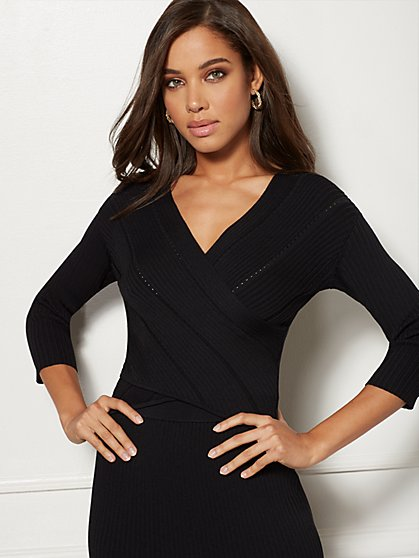 Adelle Wrap Sweater - Eva Mendes Collection - New York & Company
