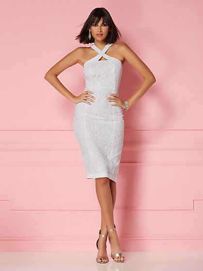 Alejandra Lace Halter Sheath Dress - Eva Mendes Party Collection - New York & Company