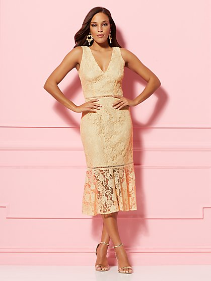 Alexia Lace Sheath Dress - Eva Mendes Party Collection - New York & Company