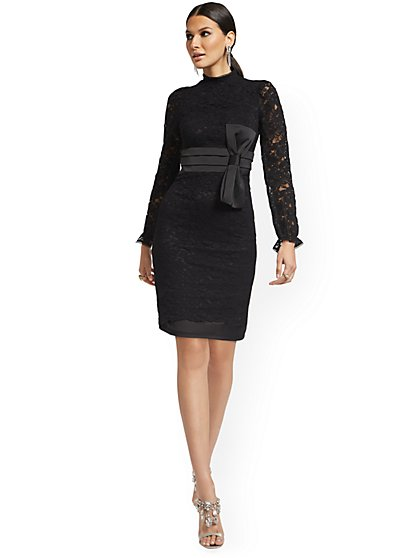 All-Over Lace Dress - New York & Company