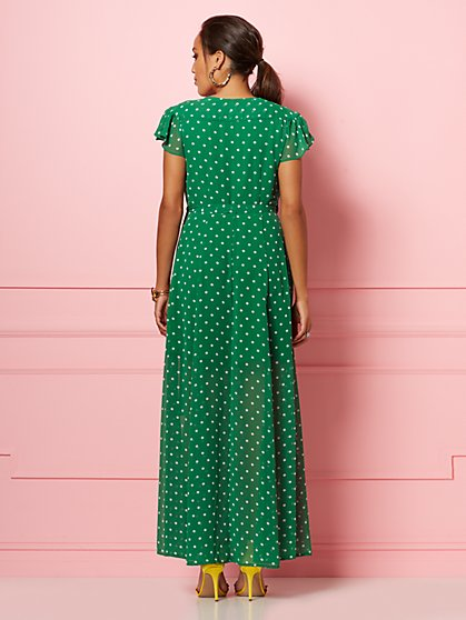 034abff54ea ... Allison Dot-Print Wrap Dress - Eva Mendes Party Collection - New York    Company