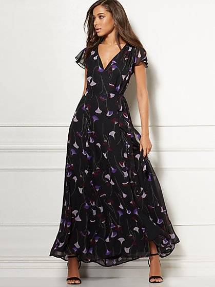 Allison Wrap Maxi Dress - Eva Mendes Collection - New York & Company