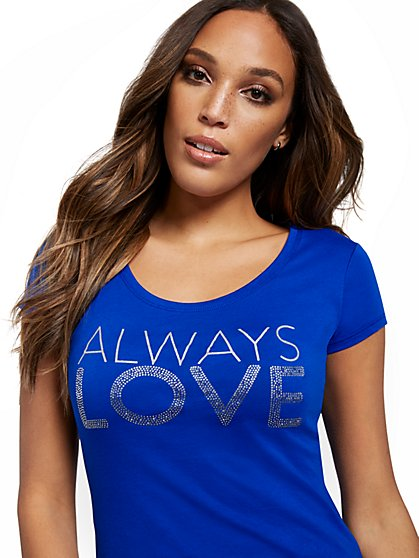 Always Love Graphic Tee - New York & Company