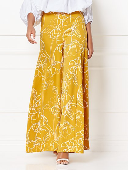 Ami Floral Palazzo Pant - Eva Mendes Collection - New York & Company