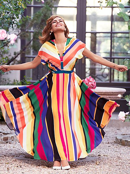 Anais Kimono Maxi Dress - Eva Mendes Collection - New York & Company