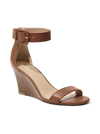 Ankle-Strap Wedge Sandal - New York & Company