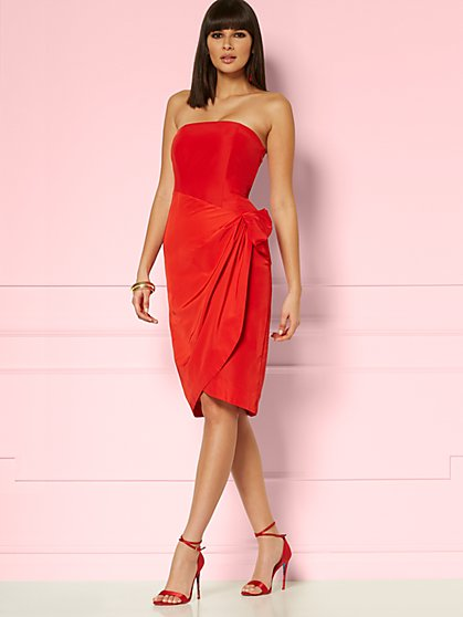 Anneka Strapless Sheath Dress - Eva Mendes Party Collection - New York & Company