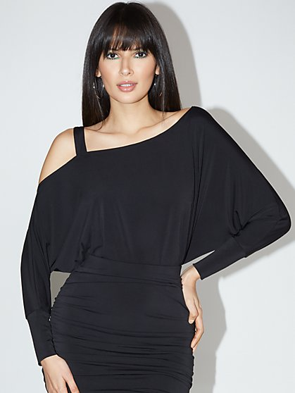 Asymmetrical Dolman-Sleeved Top - NY&C Style System - New York & Company
