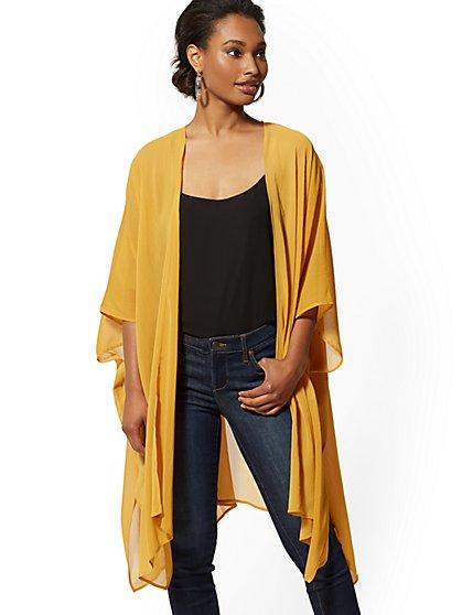 8f54a014f MULTI COLOR. New Arrival. Asymmetrical-Hem Kimono Jacket - New York &  Company