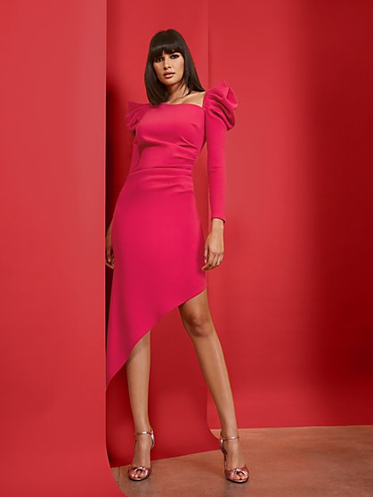 Asymmetrical-Hem Sheath Dress - New York & Company