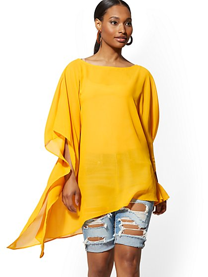 Asymmetrical-Hem Topper - New York & Company
