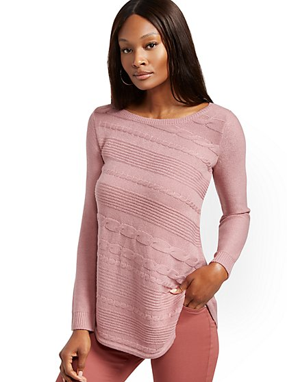 Asymmetrical-Hem Tunic Sweater - New York & Company