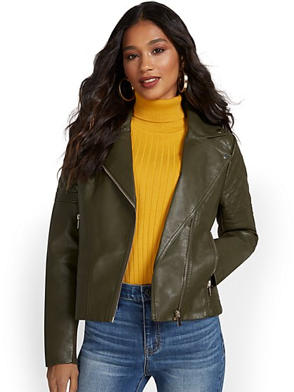 Asymmetrical Moto Jacket - New York & Company
