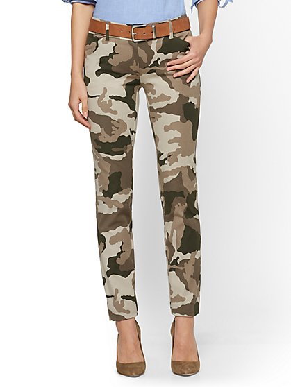 Audrey Ankle Pant - Camo Print - New York & Company