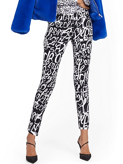 Audrey Ankle Pant - Graffiti Print - New York & Company