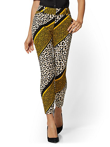 Audrey Ankle Pant - Mixed Animal Print - New York & Company