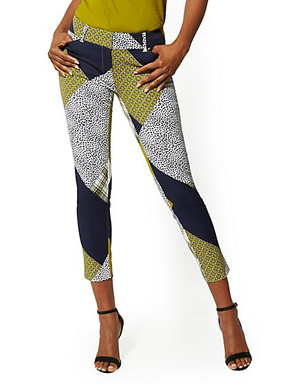 Audrey Ankle Pant - Mixed Print - New York & Company