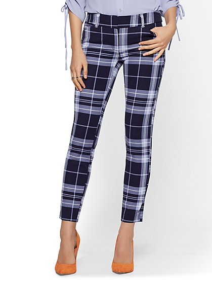 Audrey Ankle Pant - Plaid - New York & Company