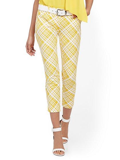 Audrey Capri Slim-Leg Pant - Plaid - New York & Company