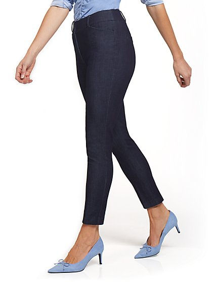 Audrey High-Waisted Denim Ankle Pant - New York & Company