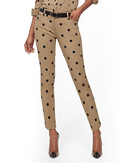 Audrey Slim-Leg Ankle Pant - Dot Print - New York & Company