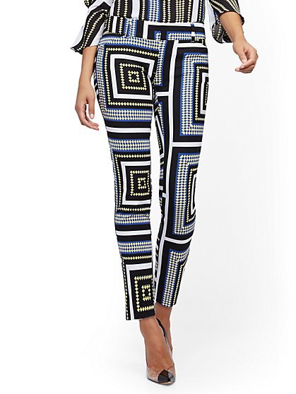 Audrey Slim- Leg Ankle Pant - Graphic Print - New York & Company