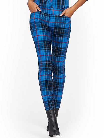 Audrey Slim Leg Pant - Plaid - New York & Company