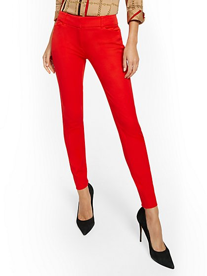 Audrey Slim-Leg Pant - Solid - New York & Company