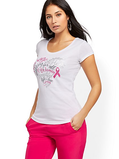 BCRF Heart Tee - New York & Company