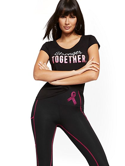 "BCRF ""Stronger Together"" Tee - New York & Company"