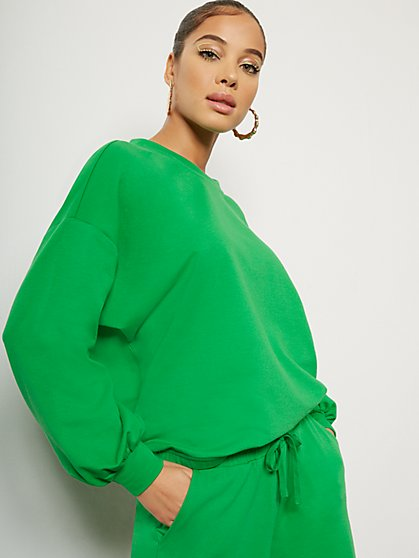 Balloon-Sleeve Pullover Top - New York & Company