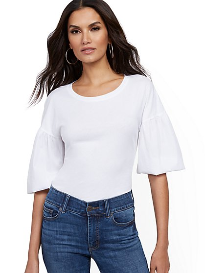Balloon-Sleeve Top - New York & Company