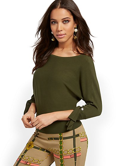 Bateau-Neck Dolman Sweater - 7th Avenue - New York & Company