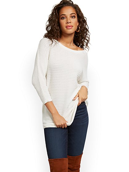 Bateau-Neck Dolman Sweater - New York & Company