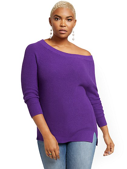 Bateau-Neck Sweater - New York & Company