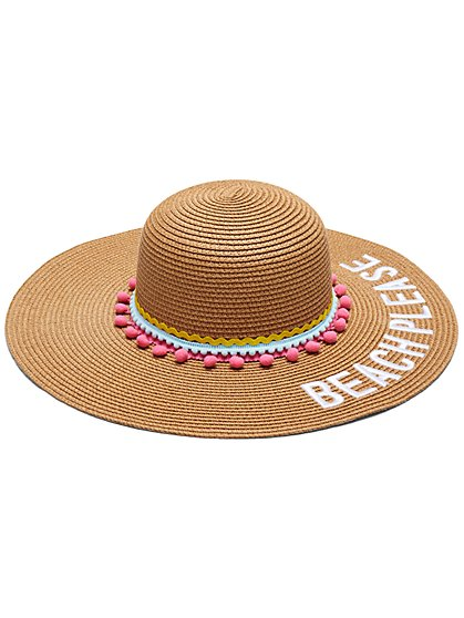 Beach Please Raffia Floppy Hat - New York & Company