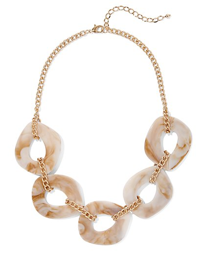 Beaded Goldtone Layered Necklace - New York & Company