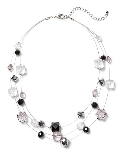 Beaded Illusion Necklace - New York & Company