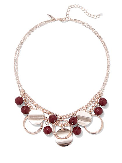 Beaded Open-Circle Necklace - New York & Company