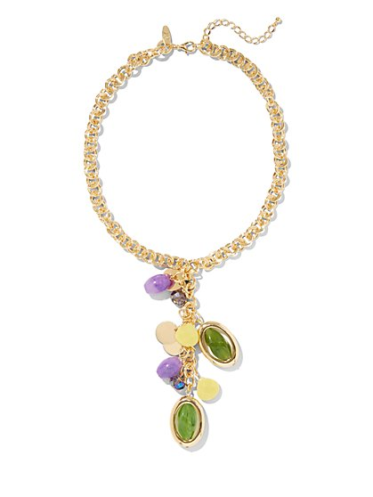 Beaded Pendant Statement Necklace - New York & Company