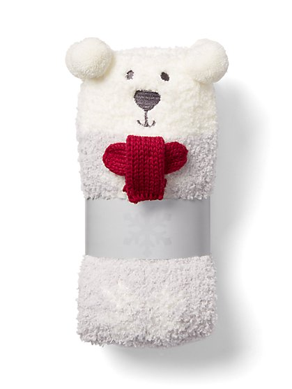 Bear & Scarf Cozy Sock - New York & Company