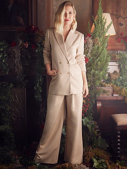 Beau Double-Breasted Blazer with Recycled Polyester Lining - New York & Company