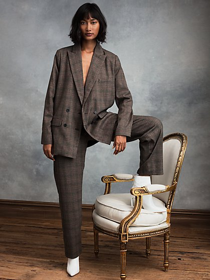 Beau Double-Breasted Blazer with Recycled Polyester - New York & Company