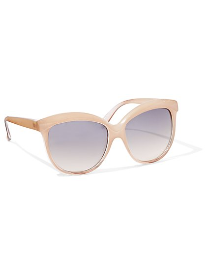 Beige Cat-Eye Sunglasses - New York & Company