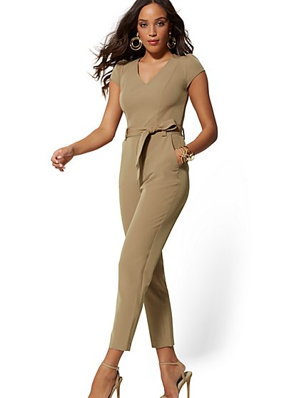 Beige Madie Jumpsuit - 7th Avenue - New York & Company