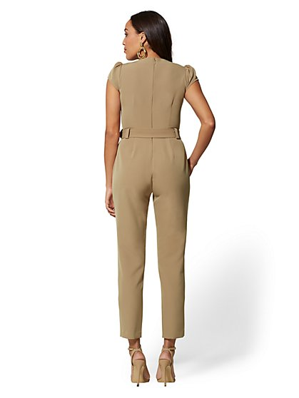 f86c3514f053 ... Beige Madie Jumpsuit - 7th Avenue - New York   Company
