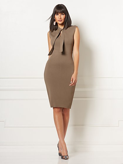 Bella Tie-Neck Sweater Dress - Eva Mendes Collection - New York & Company